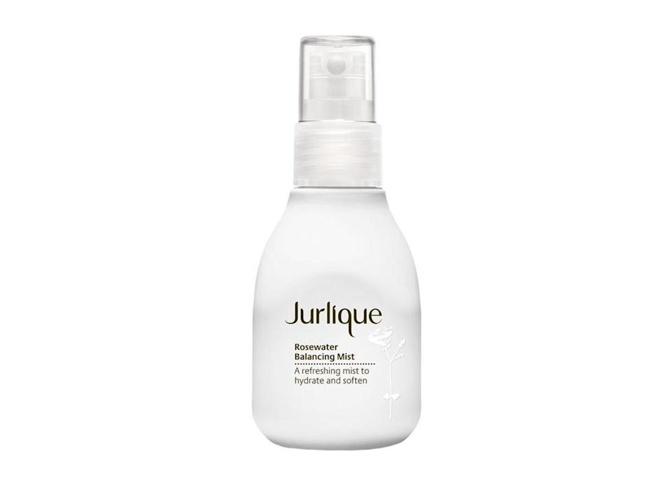"""<p>Tired, hungover and aching, getting yourself back on form each morning can be the hardest part of the festival slog. To help out, we recomment a spritz of face mist. A few squirts over the face before breakfast and you'll feel good as new. <br><a rel=""""nofollow noopener"""" href=""""https://www.lookfantastic.com/jurlique-rosewater-balancing-mist-100ml/10554516.html?affil=thggpsad&switchcurrency=GBP&shippingcountry=GB&gclid=EAIaIQobChMI9-qtspDb2wIVip3tCh1JCQYBEAQYASABEgJTLvD_BwE&gclsrc=aw.ds&dclid=CMGi9rOQ29sCFQ0w0wod6igIOQ"""" target=""""_blank"""" data-ylk=""""slk:Buy here."""" class=""""link rapid-noclick-resp"""">Buy here.</a> </p>"""