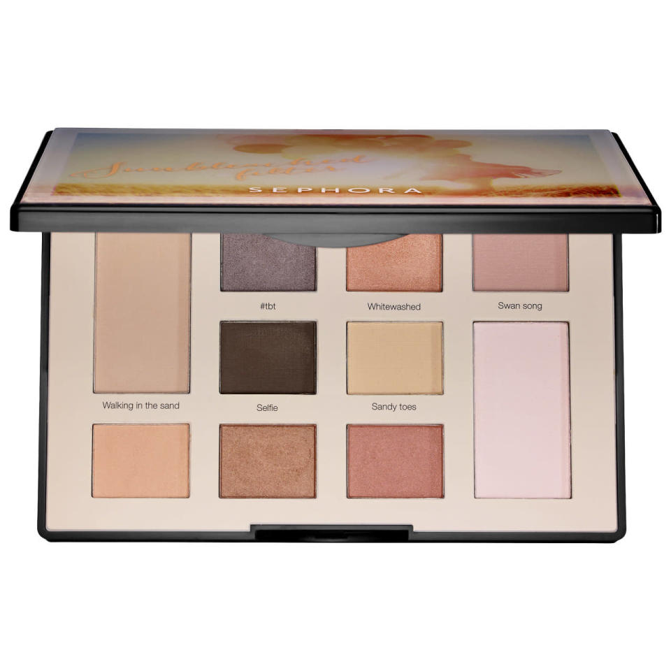 """<p>These eye palettes come in two different """"filters"""" — the Overcast palette for smoky looks, and the Sunbleached palette for brightening looks. And it comes with a giant mirror, natch. <a href=""""http://www.sephora.com/colorful-eyeshadow-filter-palette-P398082?skuId=1669969"""" rel=""""nofollow noopener"""" target=""""_blank"""" data-ylk=""""slk:Sephora Collection Colorful Eyeshadow Filter Palette"""" class=""""link rapid-noclick-resp"""">Sephora Collection Colorful Eyeshadow Filter Palette</a> ($32)</p><p><i>(Photo: Sephora)</i></p>"""