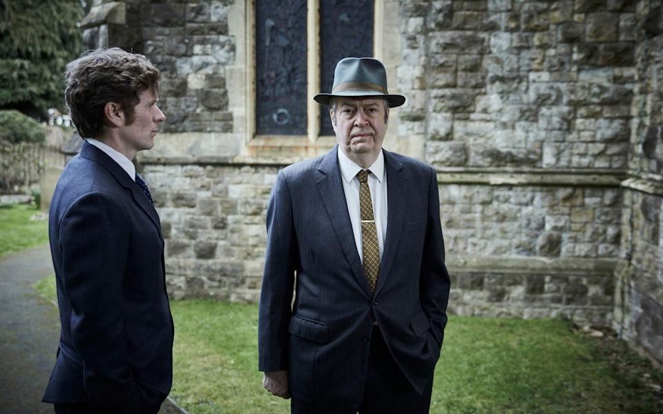 Allam as DI Fred Thursday with Shaun Evans as Endeavour - ITV