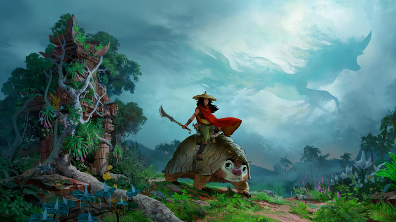 Concept art released for 'Raya and the Last Dragon'. (Credit: Disney)