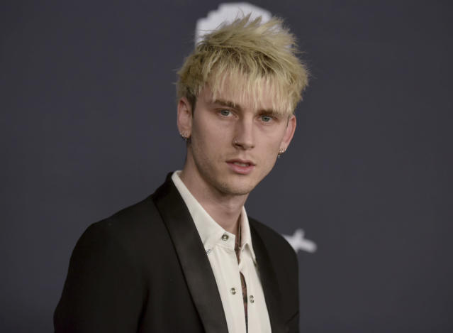 Machine Gun Kelly has become close to Megan Fox after they worked on a film last autumn. (AP)