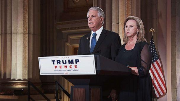 PHOTO: Carl and Marsha Mueller, parents of Kayla Mueller, speak in a recorded segment during the 2020 Republican National Convention, Aug. 27, 2020. (Republican National Convention)