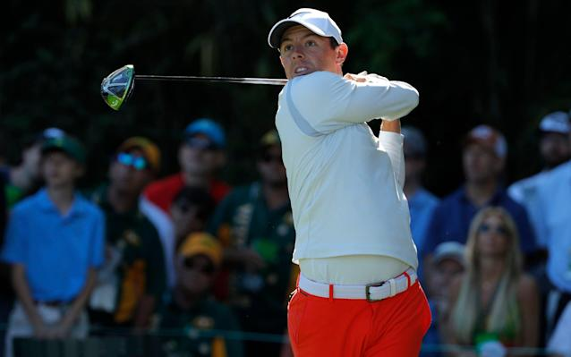 """<span>Rory McIlory needs the """"round of his life"""" to snatch victory at Augusta</span> <span>Credit: JONATHAN ERNST/Reuters </span>"""