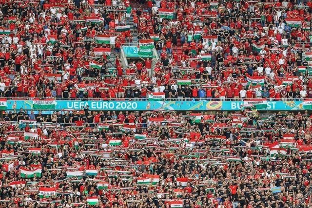 Hungary's opening Euro 2020 match against Portugal was played in front of a capacity crowd