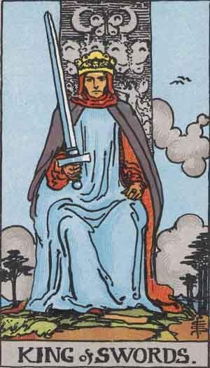 King of Swords card. Photo: Wikimedia Commons
