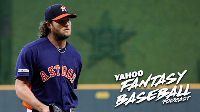 "Houston Astros pitcher <a class=""link rapid-noclick-resp"" href=""/mlb/players/9121/"" data-ylk=""slk:Gerrit Cole"">Gerrit Cole</a> (Photo by Tim Warner/Getty Images)"