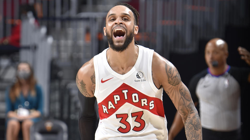 Gary Trent Jr. has given a mastercalss in how to become a fan favourite in Toronto. (Photo by David Liam Kyle/NBAE via Getty Images)
