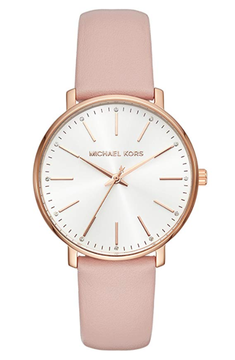 "<p><strong>Michael Kors</strong></p><p>amazon.com</p><p><strong>$112.76</strong></p><p><a href=""https://www.amazon.com/dp/B079HJRCD2?tag=syn-yahoo-20&ascsubtag=%5Bartid%7C10050.g.5116%5Bsrc%7Cyahoo-us"" rel=""nofollow noopener"" target=""_blank"" data-ylk=""slk:SHOP NOW"" class=""link rapid-noclick-resp"">SHOP NOW</a></p><p>This rose gold watch is festive for February 14, but can still be worn all year long.</p>"