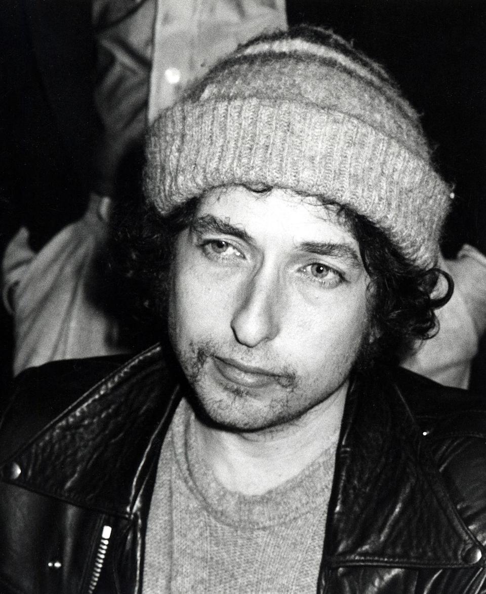 <p>Bob Dylan at the Chasen's Restaurant in Beverly Hills, California in 1980.</p>