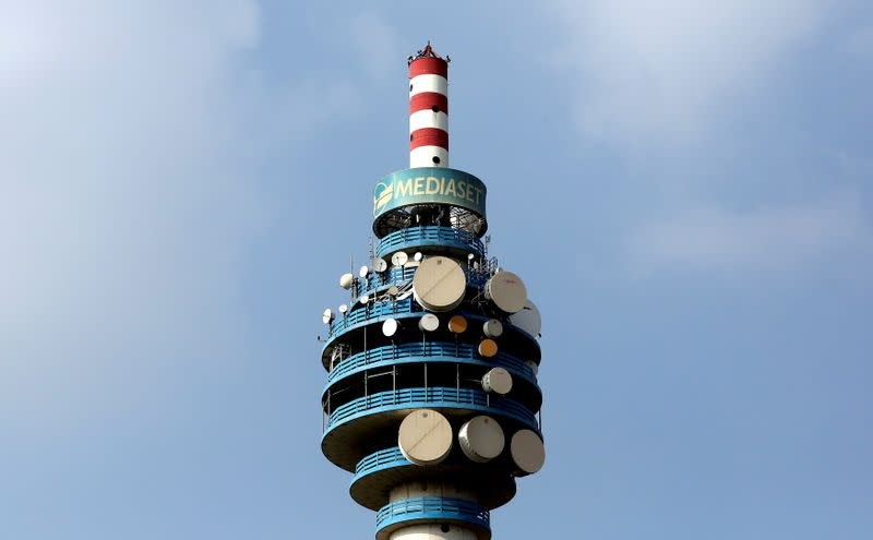 FILE PHOTO: FILE PHOTO: The Mediaset tower is seen in Milan