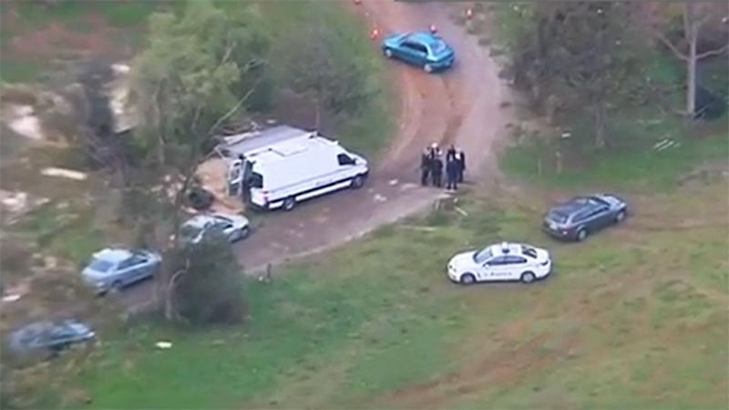 Officers have confirmed there were three men on the property when they arrived. Photo: 7 News