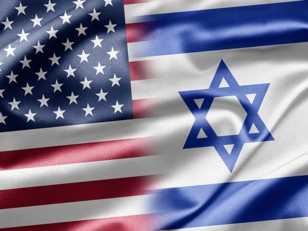 Flags of US and Israel