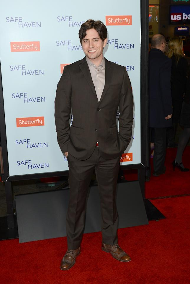 HOLLYWOOD, CA - FEBRUARY 05:  Actor Jackson Rathbone arrives at the premiere of Relativity Media's 'Safe Haven' at TCL Chinese Theatre on February 5, 2013 in Hollywood, California.  (Photo by Jason Merritt/Getty Images)