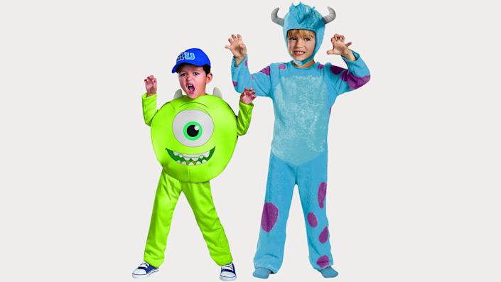 Sibling Halloween costumes: Mike and Sulley