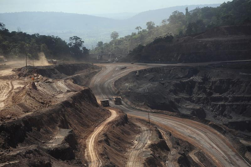 An overview of Ferro Carajas iron ore mine in the Carajas National Forest in Parauapebas