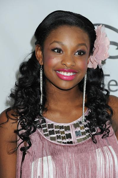 """FILE - This Jan. 10, 2012 file photo shows Coco Jones arriving at Disney ABC Television Group Television Critics Association Winter Press Tour red carpet event in Pasadena, Calif. Jones, star of the Disney Channel movie, """"Let it Shine,"""" will participate in the Essence Music Festival in New Orleans on Thursday, July 5. (AP Photo/Katy Winn, file)"""
