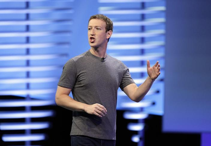Facebook CEO Mark Zuckerberg delivers the keynote address at the F8 Facebook Developer Conference in San Francisco in 2016. (Photo: Eric Risberg/AP)