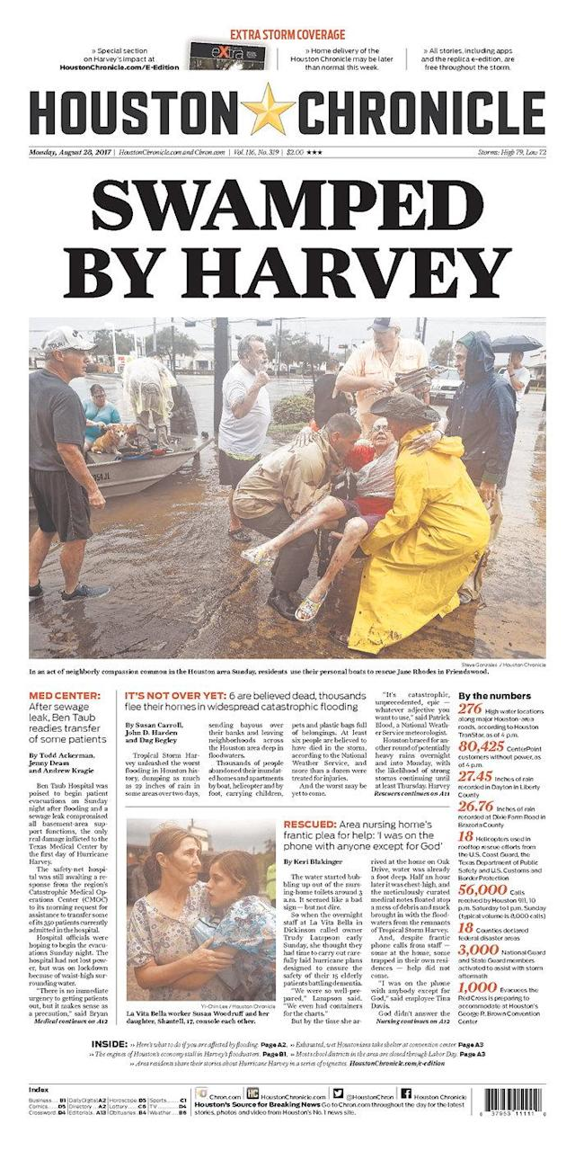 <p>Houston Chronicle<br> Published in Houston, Texas USA. (newseum.org) </p>