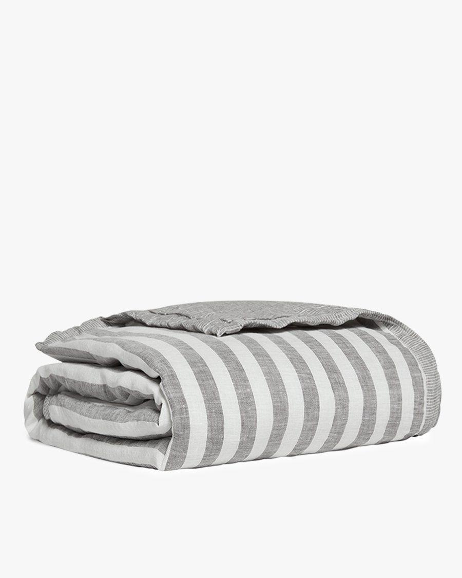 """<p><strong>Parachute Home</strong></p><p>parachutehome.com</p><p><strong>$129.00</strong></p><p><a href=""""https://go.redirectingat.com?id=74968X1596630&url=https%3A%2F%2Fwww.parachutehome.com%2Fproducts%2Fstriped-linen-baby-quilt&sref=https%3A%2F%2Fwww.cosmopolitan.com%2Flifestyle%2Fg33984905%2Fparachute-secret-sale-section%2F"""" rel=""""nofollow noopener"""" target=""""_blank"""" data-ylk=""""slk:SHOP NOW"""" class=""""link rapid-noclick-resp"""">SHOP NOW</a></p><p><strong><del>$129 </del>$103 (25% off)<br><br></strong>As this adorable quilt proves, there's plenty of Parachute for the entire family.</p>"""