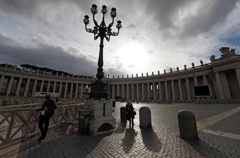 View of St. Peter's Square on Christmas Day at the Vatican