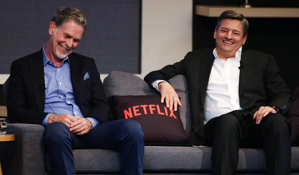 Netflix-Chef Reed Hastings (links) mit Co-CEO Ted Sarandos.
