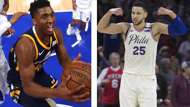 The NBA announced its All-Rookie team lists on Tuesday, led by Sixers' Ben Simmons and Utah's Donovan Mitchell.