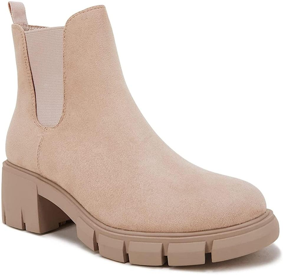 <p>These cute <span>Women's Chelsea Platform Booties </span> ($48) are perfect for fall. It's a comfortable bootie tht can go with dresses, skirts, and pants. It comes in a variety of different colors as well, including leather and suede options. </p>