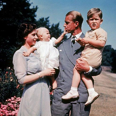 The two welcome their first child, Prince Charles, in 1948, and their second, Princess Anne, in 1950.