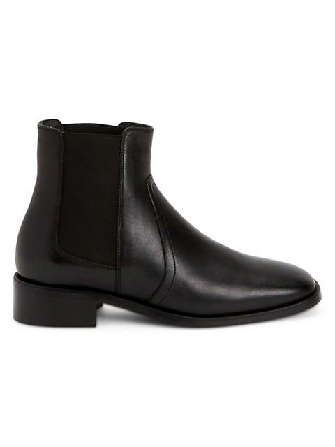 Tamera Block-Heel Leather Chelsea Boots
