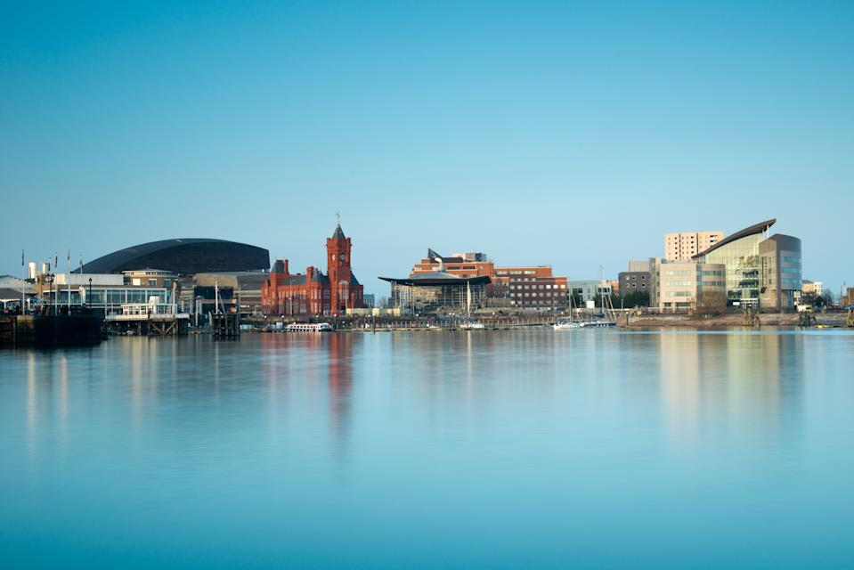 Cardiff Bay Cityscape,Wales