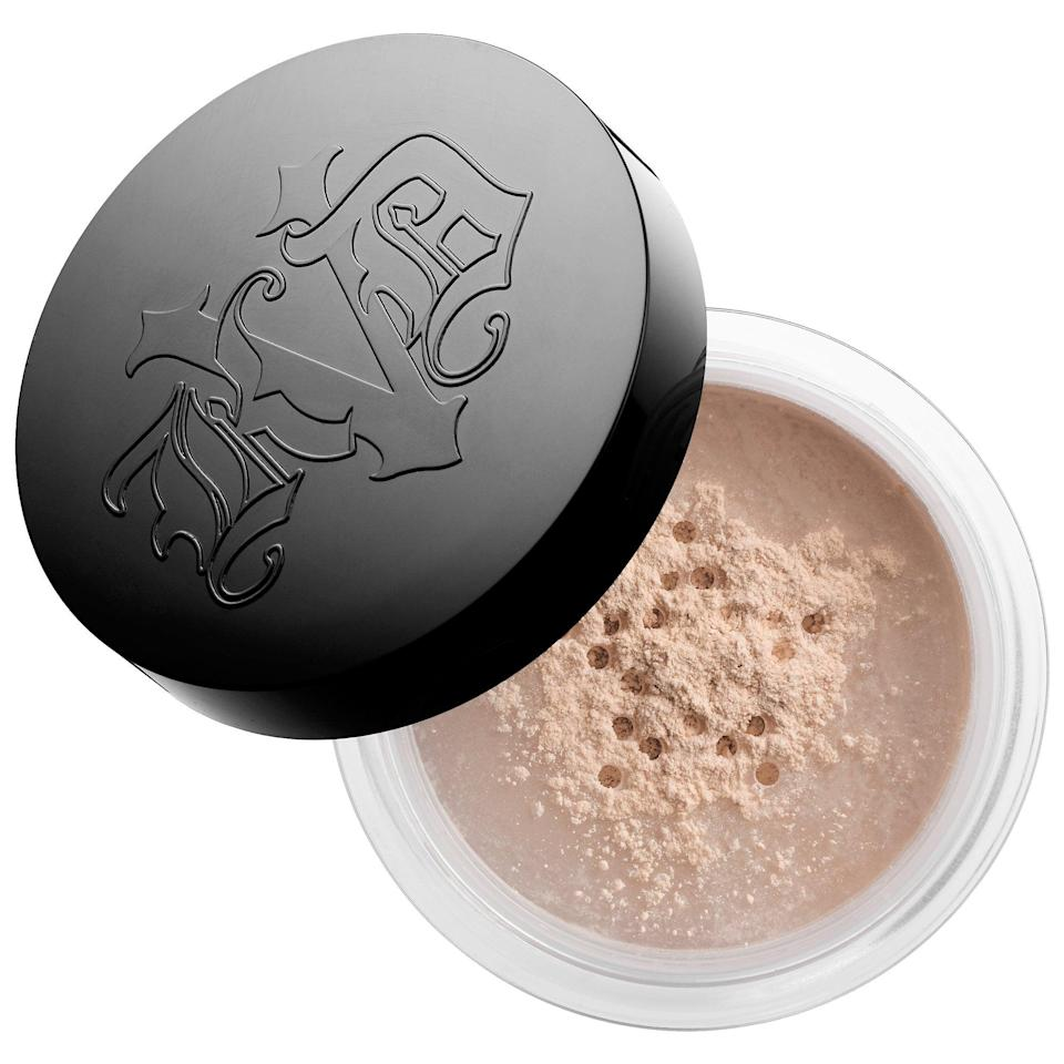"<p>With more than 83,000 loves from other Sephora shoppers, this <a href=""https://www.popsugar.com/buy/KVD-Vegan-Beauty-Lock--Setting-Powder-587092?p_name=KVD%20Vegan%20Beauty%20Lock-It%20Setting%20Powder&retailer=sephora.com&pid=587092&price=16&evar1=bella%3Aus&evar9=47597630&evar98=https%3A%2F%2Fwww.popsugar.com%2Ffashion%2Fphoto-gallery%2F47597630%2Fimage%2F47597664%2FKVD-Vegan-Beauty-Lock-It-Setting-Powder&list1=makeup%2Csephora%2Cbeauty%20shopping&prop13=api&pdata=1"" class=""link rapid-noclick-resp"" rel=""nofollow noopener"" target=""_blank"" data-ylk=""slk:KVD Vegan Beauty Lock-It Setting Powder"">KVD Vegan Beauty Lock-It Setting Powder</a> ($16-$31) is a popular choice to set makeup into a velvety-matte finish while also blurring the appearance of skin's pores.</p> <p><i>Love all things beauty? Can't get enough products? Come join our Facebook Group <a href=""https://www.facebook.com/groups/389401751481325/"" class=""link rapid-noclick-resp"" rel=""nofollow noopener"" target=""_blank"" data-ylk=""slk:Real Reviews With POPSUGAR Beauty""><span class=""s1"">Real Reviews With POPSUGAR Beauty</span></a>. There are lots of fun conversations happening there, as well as all the product recommendations you could ask for - not just from us but also community members.</i></p>"