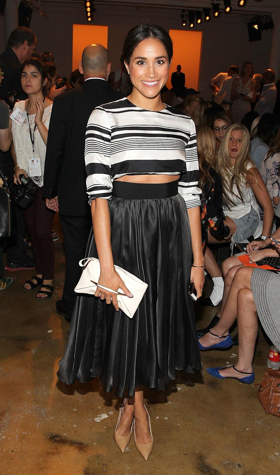 Atthe Peter Som show during MADE Fashion Week Spring 2015 at Milk Studios in New York.