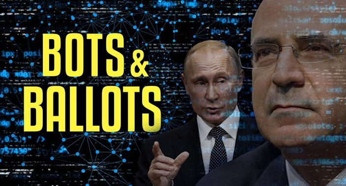 Russian President Vladimir Putin and William Browder, co-founder and chief executive officer of Hermitage Capital LLP. (Yahoo News photo Illustration; photos: AP, Getty)