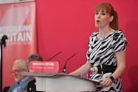 Shadow education secretary Angela Rayner make an announcement on poverty, inequality and social justice at The Great Hall, in Aston University, Birmingham.