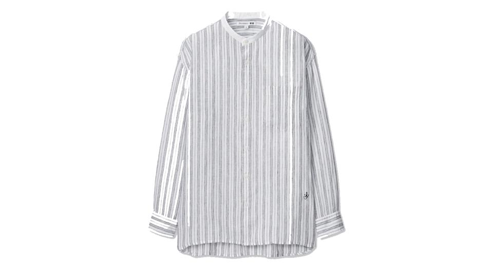 JW ANDERSON PREMIUM LINEN OVERSIZED FIT STRIPED SHIRT