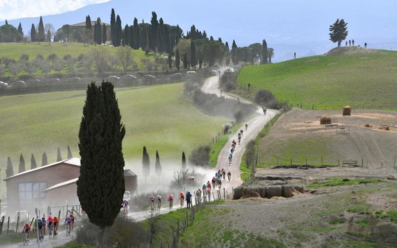 3th Strade Bianche 2019 a 184km race from Siena to Siena-Piazza del Campo / @StradeBianche / on March 09, 2019 in Siena, Italy - Tim de Waele/Getty Images
