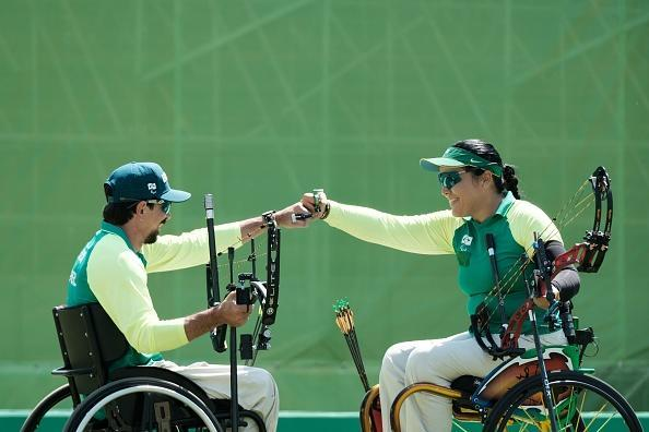 Jane Kara Gogel in archery competition at Rio 2016 Paralympic Games