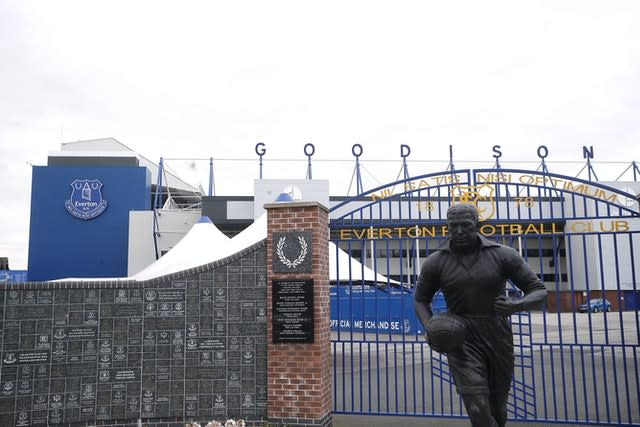 Goodison Park only got the go-ahead to host the derby last week (Martin Rickett/PA)