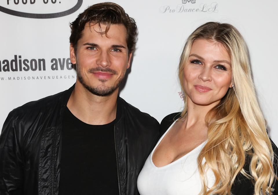 HOLLYWOOD, CALIFORNIA - MARCH 24: Dancer / TV Personality Gleb Savchenko (L) and Actress Elena Samodanova (R) attend the 8th annual Miss Russian LA 2019 at Taglyan Cultural Complex on March 24, 2019 in Hollywood, California. (Photo by Paul Archuleta/Getty Images)