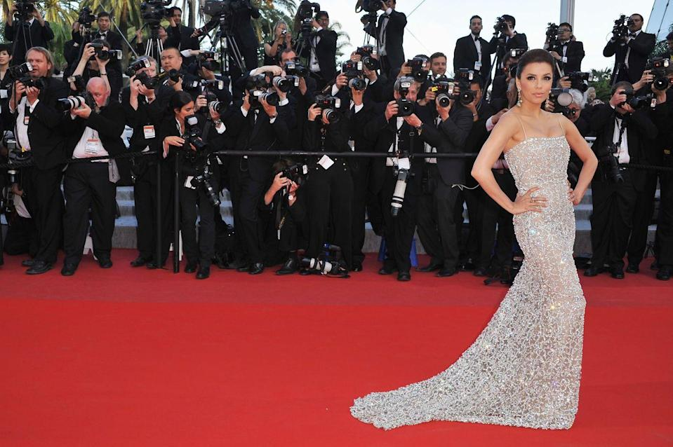 <p>Twinkling in Naeem Khan at the 2010 Cannes Film Festival.</p>