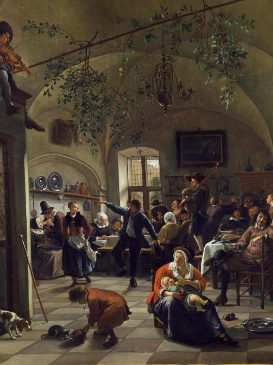 'Merrymaking in a Tavern' by Jan Steen