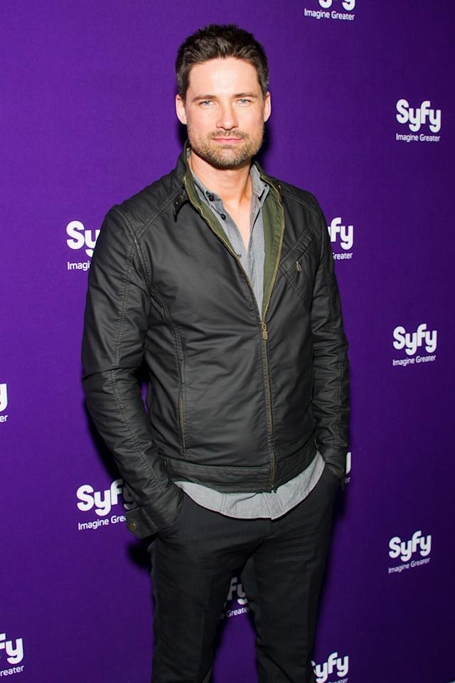 "Warren Christie (""<a href=""http://tv.yahoo.com/alphas/show/41988/"">Alphas</a>"") attends Syfy's 2012 Upfront event at the American Museum of Natural History on April 24, 2012 in New York City."