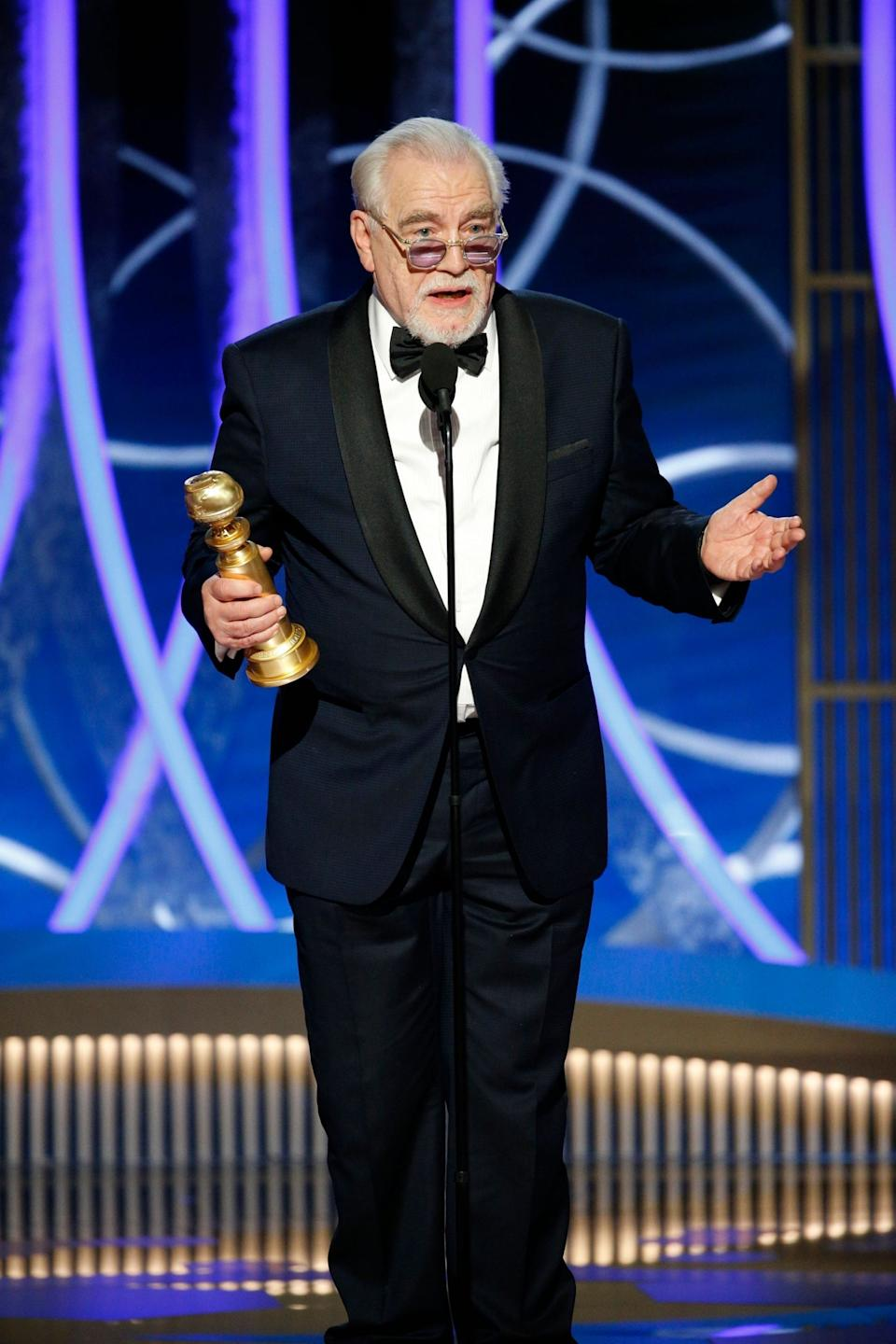 Cox won a Golden Globe for his role in Succession last month (REUTERS)