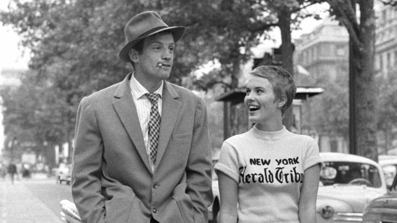 Jean-Paul Belmondo and Jean Seberg in 'Breathless'. (Credit: UGC)