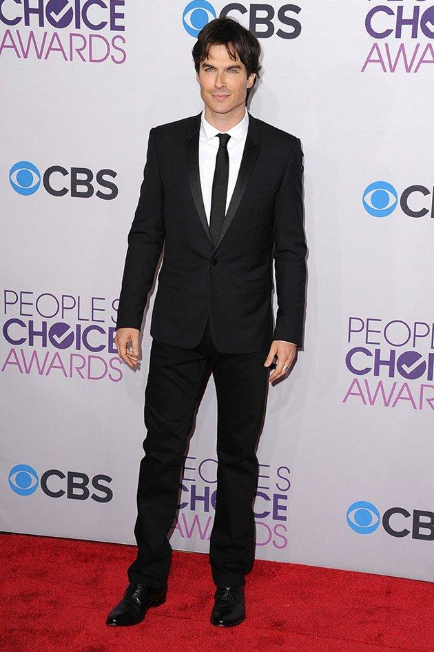 BEST: Ian Somerhalder.  Let's face it, Somerhalder would look good in anything (and especially nothing at all!). But he is especially dapper in this classic black look.