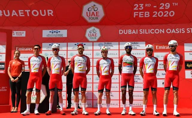 Cofidis riders have been holed up in their hotel in Abu Dhabi over a coronavirus scare (AFP Photo/Giuseppe CACACE)