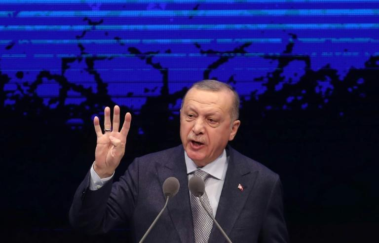 Erdogan said peace efforts  after the January ceasefire 'should not be sacrificed to the ambitions of blood and chaos merchants'