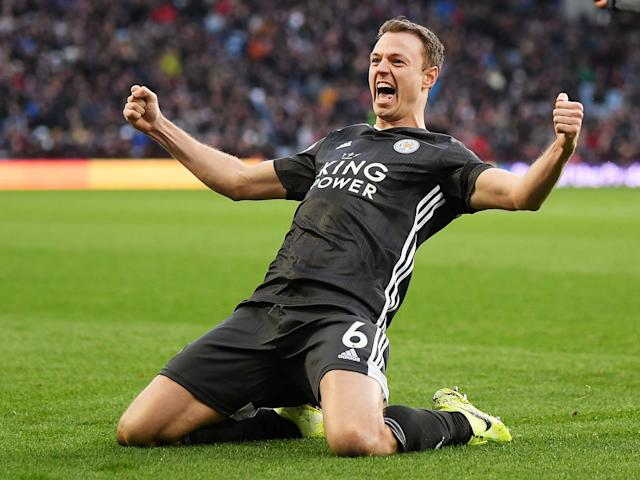 Jonny Evans of Leicester City celebrates: Getty Images