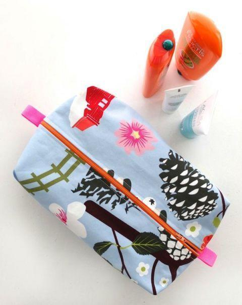 """<p>Help your mom wrangle her beauty essentials with a zippered bag — just pick a fabric that matches her personality. </p><p><em><a href=""""http://mypoppet.com.au/makes/2015/04/zippered-wash-bag-pattern-make-a-gift-from-one-mother-to-another.html"""" rel=""""nofollow noopener"""" target=""""_blank"""" data-ylk=""""slk:Get the tutorial at My Poppet »"""" class=""""link rapid-noclick-resp"""">Get the tutorial at My Poppet »</a></em> </p>"""