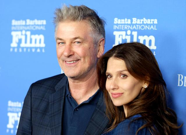 Hilaria Baldwin took to Instagram this week to express her frustration with losing her hair after the birth of her fourth child with Alec Baldwin, son Romeo. (Getty Images)